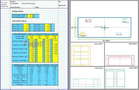 concrete shear wall design spreadsheet