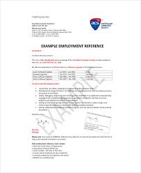 reference letter sample for employment sample recommendation letter from employer 6 examples in word pdf