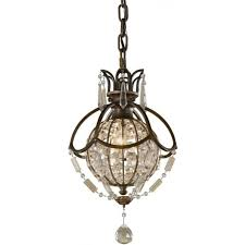 oxidised bronze with antique crystal