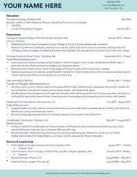 Resume Template For Students Magnificent Gallery Of Gonzaga University Sample Student R Sum R Sum Samples