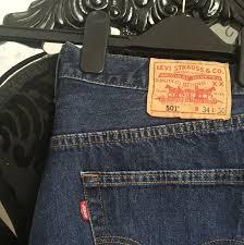 Levi 501 Jeans Size Chart Levis Levis 501 Jeans Size W34 L30 Check Levis Depop