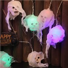 Outdoor Skull Lights Yakalla Halloween Skeleton String Lights 8 8ft 20 Led Skull Lights String Flashing Stationary Decoration Lights Battery Powered Indoor Outdoor