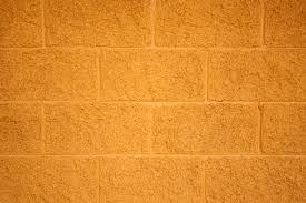 Painted Yellow Cinder Block Wall Texture Picture Free