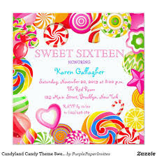 candyland sweet 16 invitations. Candyland Candy Theme Sweet 16 Invitation Invite This Birthday Party Is Easily Customized For Your Or Any Intended Invitations
