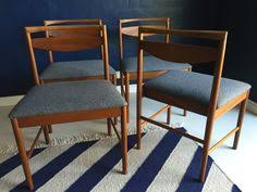 very elegant set of 4 dining chairs manufactured by well known scottish furniture maker a h mcintosh mcintosh were a high quality mid century manufacturer