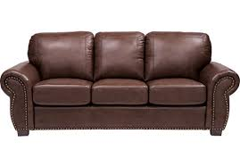 97700 Balencia Dark Brown Leather Sofa Classic Traditional
