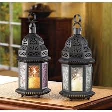 moroccan lanterns decorative candle light for candles lantern lights fascinating outdoor image