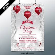 Backgrounds For Posters Free Christmas Party On A Snowed Background Poster Vector Free Download