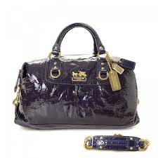 Coach Madison Patent Leather Large Sabrina Bag Patent leather - LXRandCo -  Pre-Owned Luxury Vintage