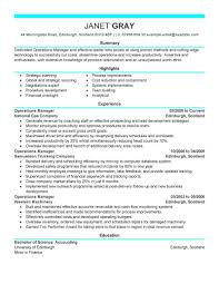Resume Effective Resume Samples