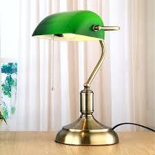 green bankers desk lamp vintage