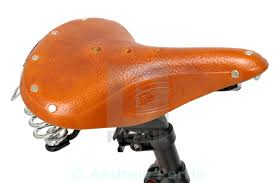 leather bike seat stock image