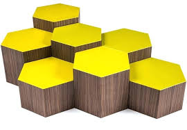 decoration six a collection hexagonal coffee tables copper table