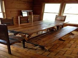 Kitchen Table With Bench And Chairs Rustic Farmhouse