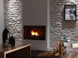 panel piedra montblanc stone wall panels in a living room with a fireplace