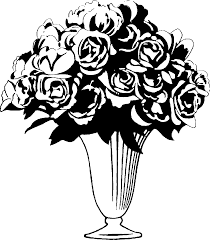 flower vase clipart black and white images u0026 pictures becuo flower vase png black and
