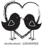 two love bird silhouette. Simple Silhouette Two Birds And Heart For Love Bird Silhouette I