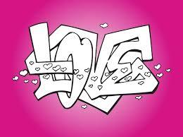 de love colores love graffiti