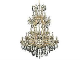 maria theresa royal cut gold golden teak 61 light 54 wide grand chandelier