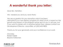 Thank You Letter For Donations Impressive Best Thank You Letters For Donations How To Write A Killer Letter