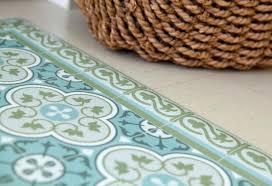 gray and teal kitchen rugs vinyl nice mat tiles pattern decorative linoleum rug