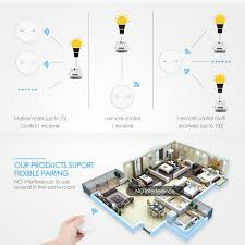 One Click Lights Loratap Magnetic Wireless Lights Switch Kit Two 2 Button Remote And One Relay Receiver 868mhz For Eu Market