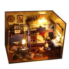 mini doll house furniture. mini doll house kids toy furniture miniatura diy houses miniature dollhouse wooden handmade toys birthday