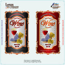 Vending Machine Label Template Amazing Exquisite Wine Labels Template Vector Design Free Vector In