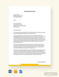 94 Free Recommendation Letter Templates Pdf Word