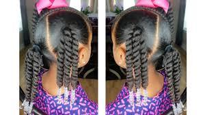 <b>Rope</b> Twist Ponytails w/Beads Tutorial | <b>Kids</b> Natural Hairstyle ...