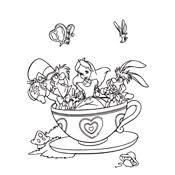 Kleurplaat Alice In Wonderland Disney 82