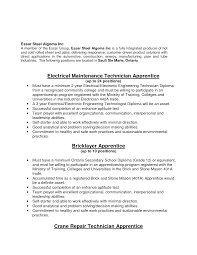 Apprenticeship Cover Letter Examples Millwright Apprentice Coveretter Sample Apprenticeship Template