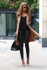 approaching fall the camel and black colours will take over this year nada adelle waistcoat