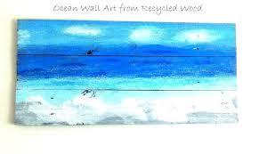 beach wall art decor ocean wall art from recycled wood metal wall beach wall art decor on beach decor metal wall art with metal beach wall art hybriddog fo