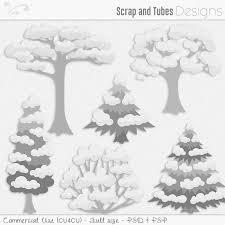 Snow Templates Snow Tree Templates Fs Cu4cu Zaza_snow Tree Templates Scrap