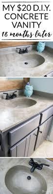 Refinish Bathroom Countertop Top 25 Best Faux Concrete Countertops Ideas On Pinterest