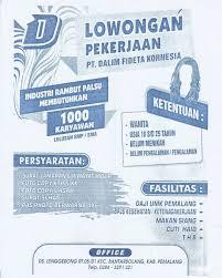 Untuk lulusan smp cari di antara 18.000+ lowongan kerja terbaru di indonesia dan di luar negeri gaji yang layak pekerjaan penuh waktu, sementara dan paruh waktu cepat & gratis pemberi kerja terbaik kerja: Lowongan Kerja Pemalang Lulusan Smp Info Lowongan Kerja Ijazah Smp Mudah Pengalaman Di Bidang Admin Minimal 1 Tahun Diutamakan