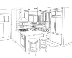 simple kitchen drawing. Good Simple Kitchen Drawing 9 D