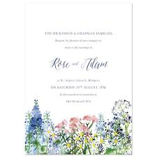 Sample Of Wedding Invatation Calligraphy And Flowers Wedding Invite Sample By Hollyhock Lane