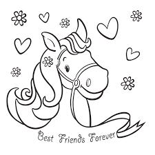 Kleurplaat Kaart Paard Bff