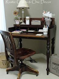 Image Drawer Here Rustic Crafts Chic Decor My New Vintage Desk Set For Shabby Chic Office Rustic Crafts