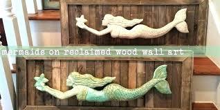 gorgeous wooden mermaid wall decor metal mermaid wall art wooden mermaid wall decor routed wood mermaid