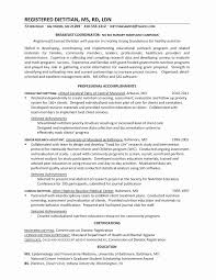 R D Resume 40 Printable Entry Level Dietitian Examples Stunning Resume For Entry Level