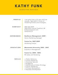 Yellow Simple Corporate Resume - Templates By Canva
