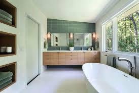 mid century modern bathroom modern bathroom renovation simply grove mid century modern double bathroom vanity