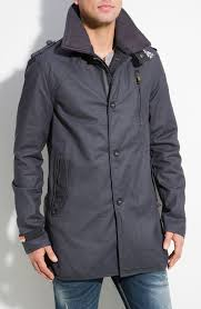 new mens superdry off jermyn st pea trench coat black tradingbasis