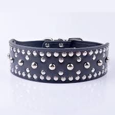 pu leather studded pet collar for big dogs