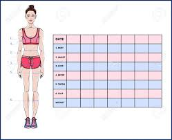 Printable Body Measurement Chart Weight Loss