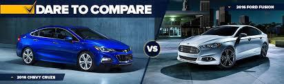 Chevy Cruze Comparison Chart Dare To Compare Chevy Cruze Vs Ford Fusion Suski