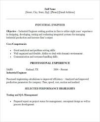 Industrial Engineer Resume New Section Stunning 48 Modern Engineering Resume Templates Free Premium Templates